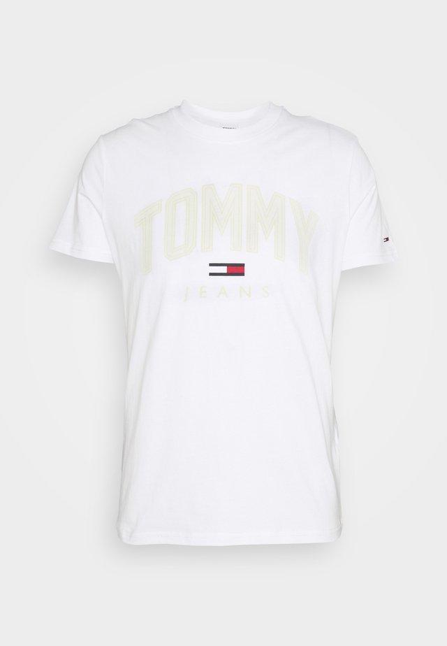 SHADOW TEE UNISEX - T-shirt print - white
