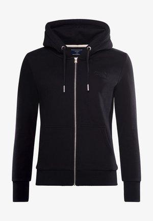 ORANGE LABEL - Zip-up hoodie - black