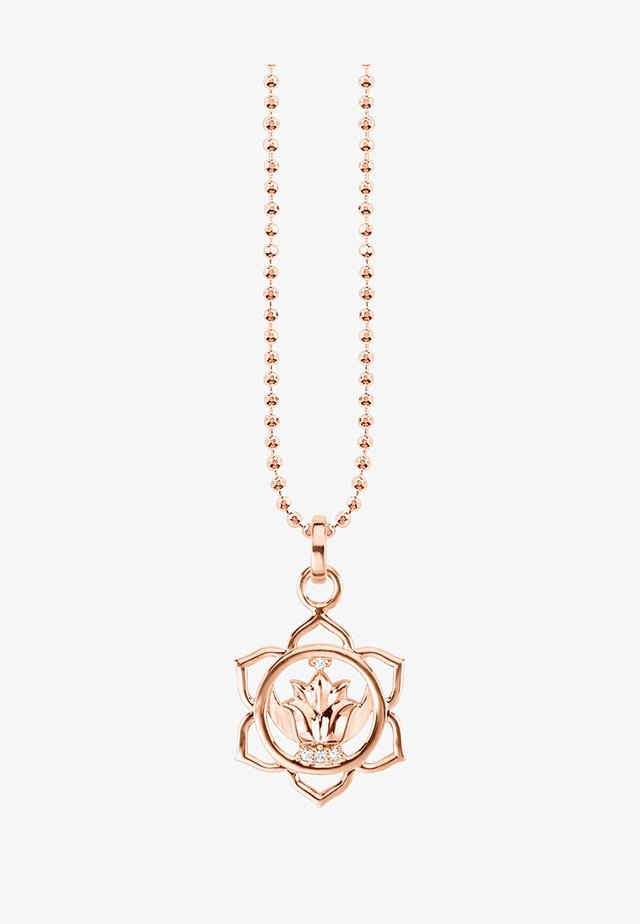 Necklace - rosegold-coloured/white