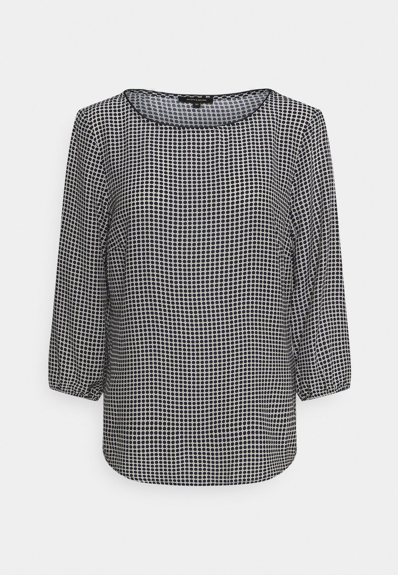 More & More - PRINTED BLOUSE - Long sleeved top - marine