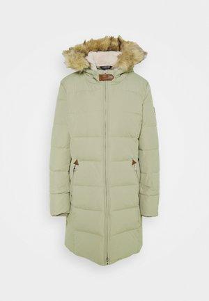 HAND TRIM  - Down coat - new sage