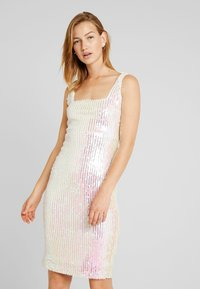 Rare London - SEQUIN DRESS - Vestido de tubo - white - 0