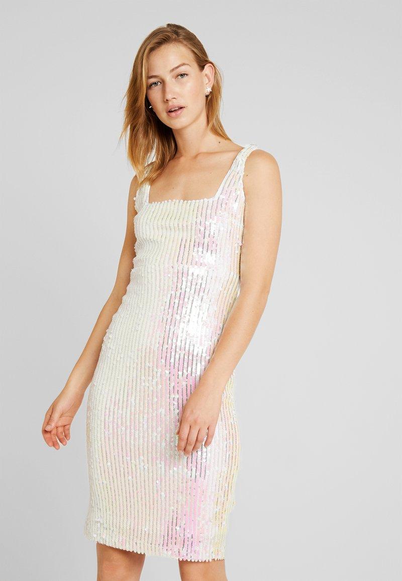 Rare London - SEQUIN DRESS - Tubino - white