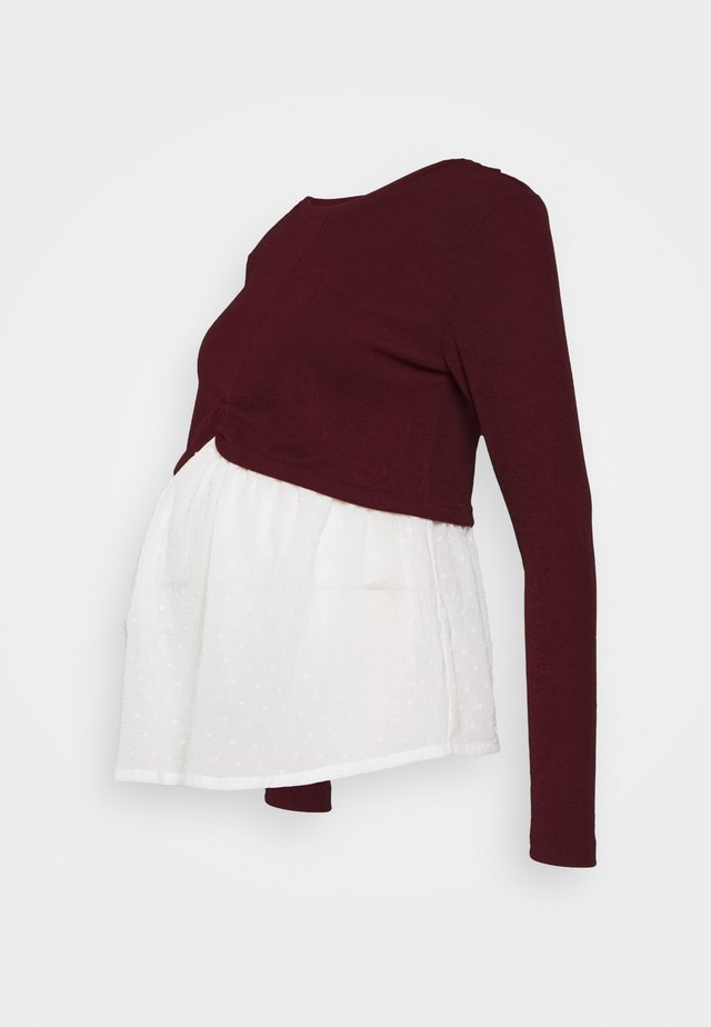 Jumper - dark burgundy