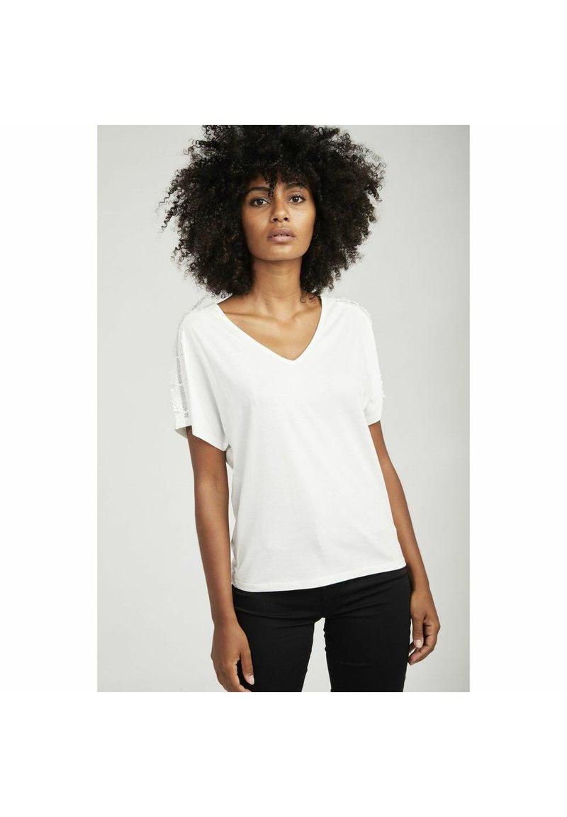 NAF NAF - Basic T-shirt - ecru