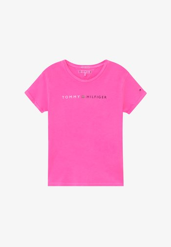 ESSENTIAL ROLL UP - Print T-shirt - pink