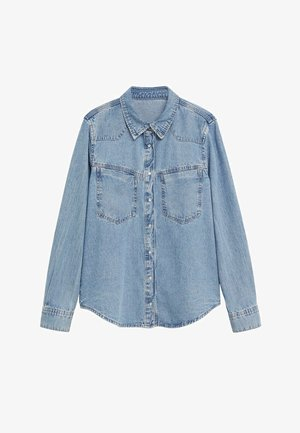 Button-down blouse - bleu moyen