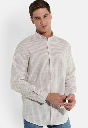 STREIFEN-HEMD STEHKRAGEN - Shirt - beige