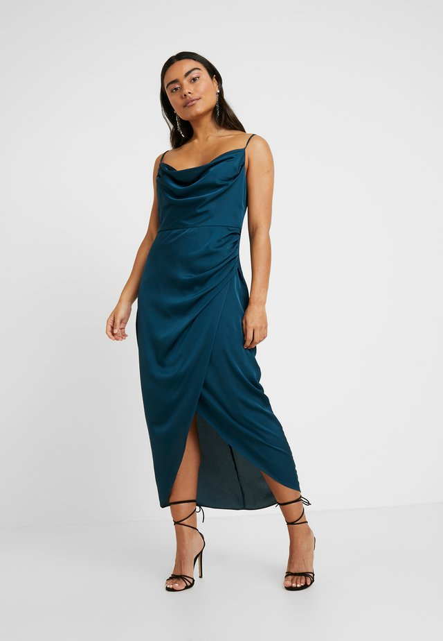 HOLLY COWL DRESS - Occasion wear - teal