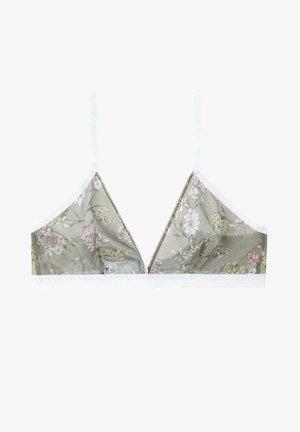 LISBON PRINTED - Triangle bra - dark olive st fiore romantico