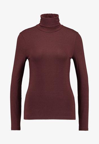 VMAVA LULU ROLLNECK BLOUSE - Maglietta a manica lunga - madder brown