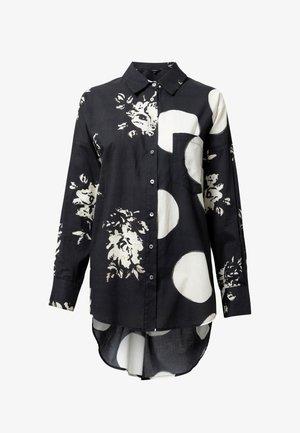 NILO - Button-down blouse - black