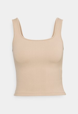 BARE CROP SEAMLESS TANK - Top - brown