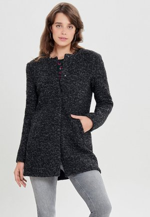 ONLSIDNEY COAT - Abrigo corto - mottled black