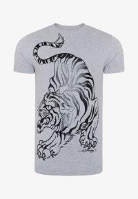 Ed Hardy - TIGER-GIANT T-SHIRT - Print T-shirt - grey marl - 2