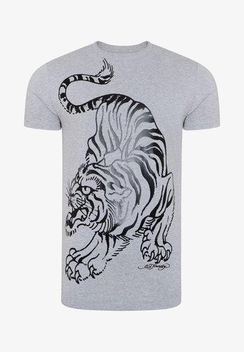 TIGER-GIANT T-SHIRT - Print T-shirt - grey marl
