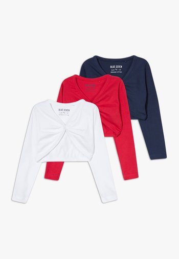 BOLERO 3 PACK - Vest - weiß/rosa/dunkelblau