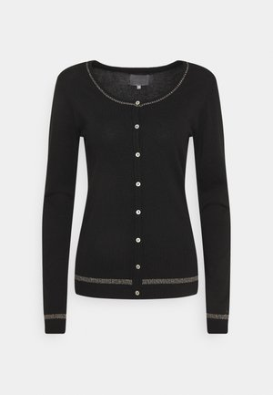 ANNEMARIE STAR CARDIGAN - Cardigan - black