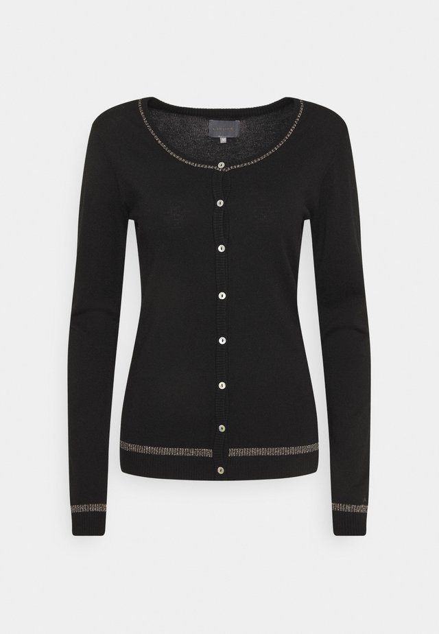 ANNEMARIE STAR CARDIGAN - Vest - black