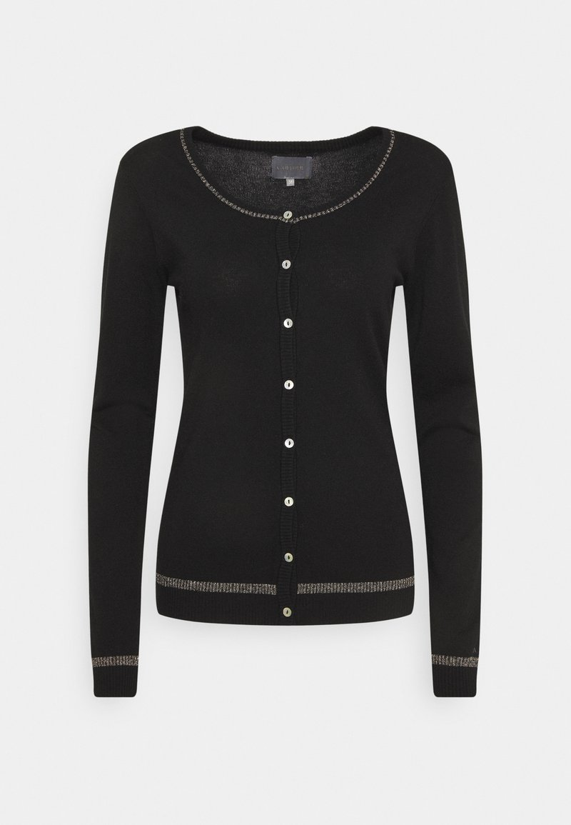Culture - ANNEMARIE STAR CARDIGAN - Cardigan - black