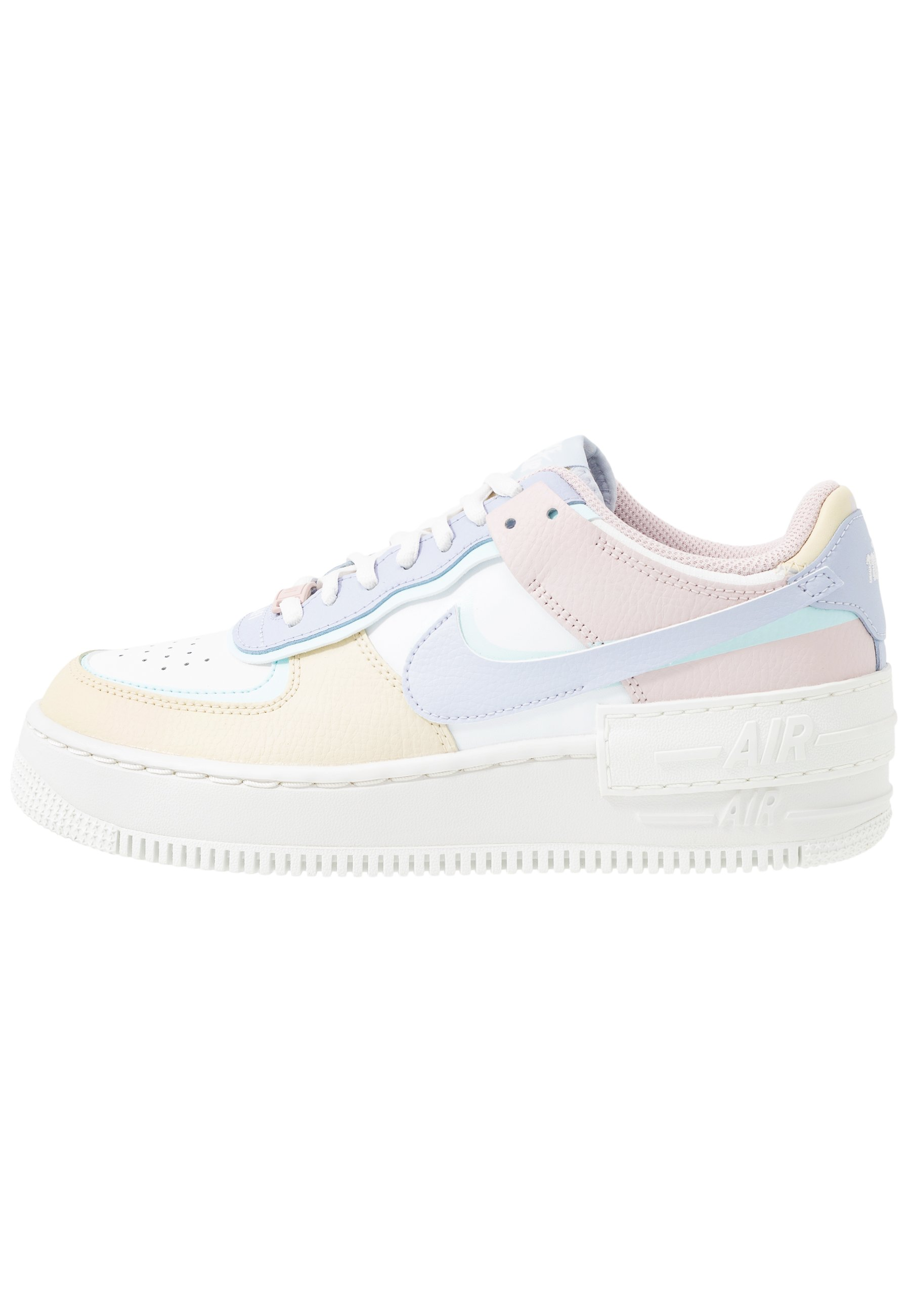 AIR FORCE 1 SHADOW - Sneakers laag - summit white/ghost/glacier  blue/fossil/barely rose