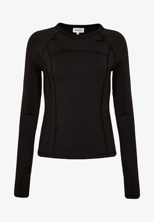 AMY LONG SLEEVE - Langærmede T-shirts - black