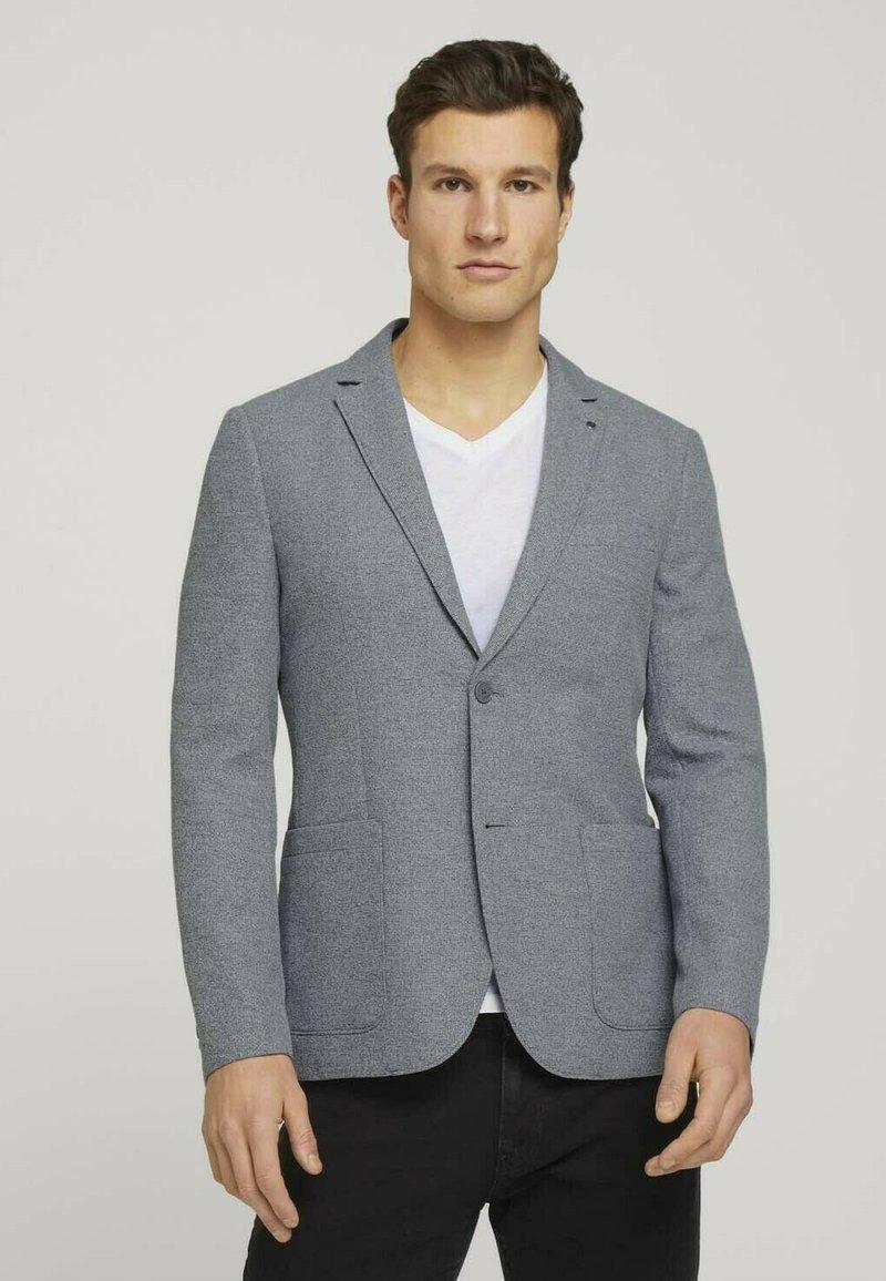 TOM TAILOR - Blazer jacket - grey melange structure