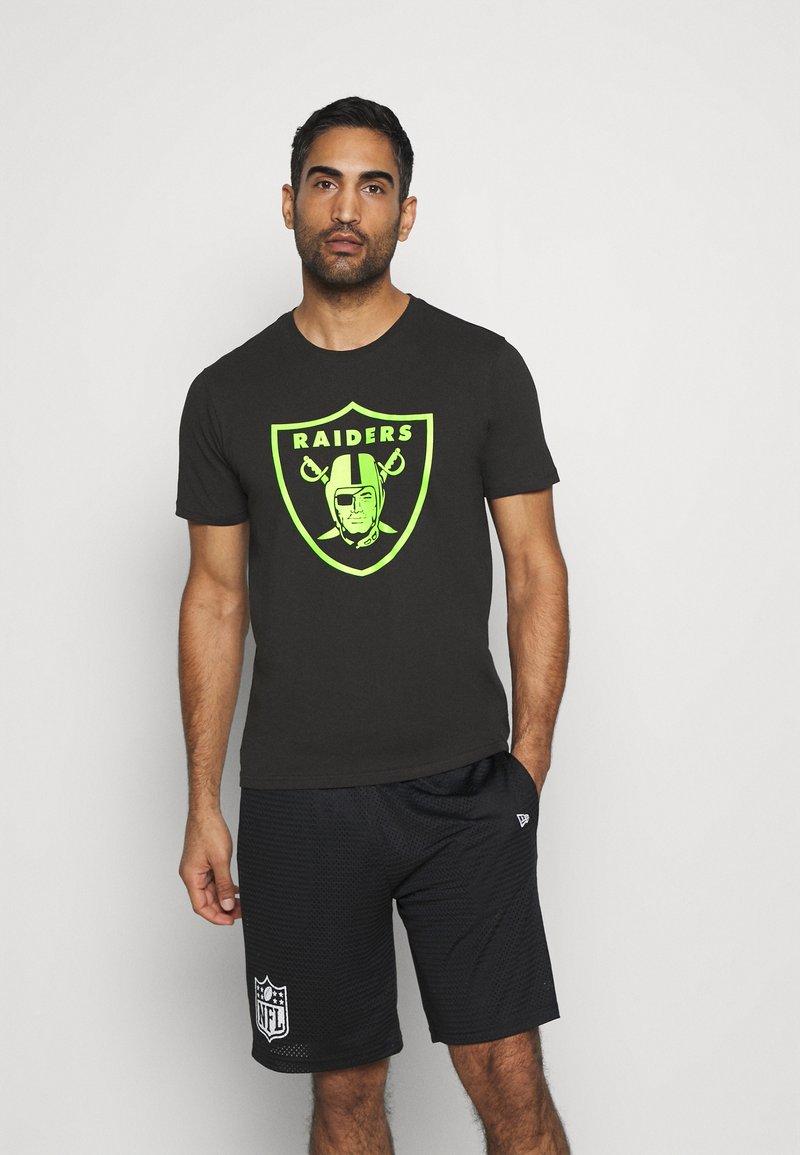 Fanatics - NFL LAS VEGAS RAIDERS NEON POP CORE GRAPHIC  - Club wear - black