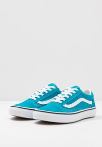 Vans - OLD SKOOL - Zapatillas - caribbean sea/true white - 3