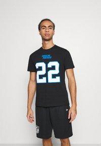 Fanatics - NFL CHRISTIAN MCCAFFREY CAROLINA PANTHERS ICONIC NAME & NUMBER  - Club wear - black - 0