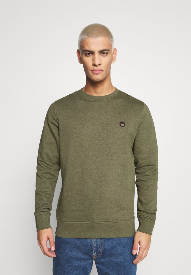 JORVIBE CREW NECK - Sweatshirt - dusty olive melange