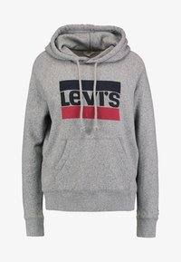 Levi's® - GRAPHIC SPORT - Mikina s kapucí - smokestack heather - 4