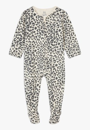 THE LONG SLEEVE ZIP ROMPER - Sleep suit - caramel marle/summer ocelot