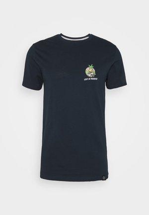 TROPIC SKULL TEE - T-shirt z nadrukiem - navy