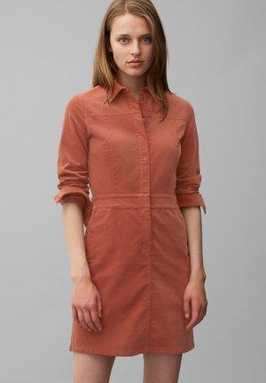 Shirt dress - burnt brick