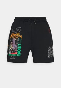 Grimey - LIVEUTION UNISEX - Shorts - black - 0