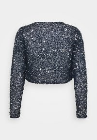 Maya Deluxe - DELICATE SEQUIN JACKET WITH BOW - Cardigan - navy - 1