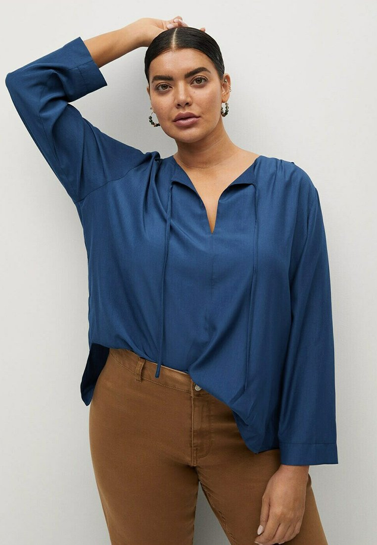 Violeta by Mango - FLIESSENDE  - Long sleeved top - blau