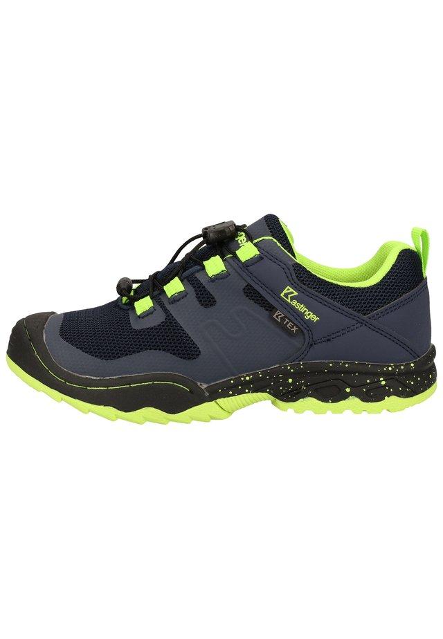 WANDERSCHUHE - Sneaker low - navy/lime 461