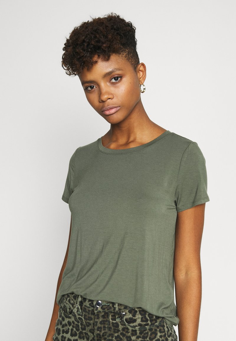 Hollister Co. - EASY CREW  - Basic T-shirt - olive