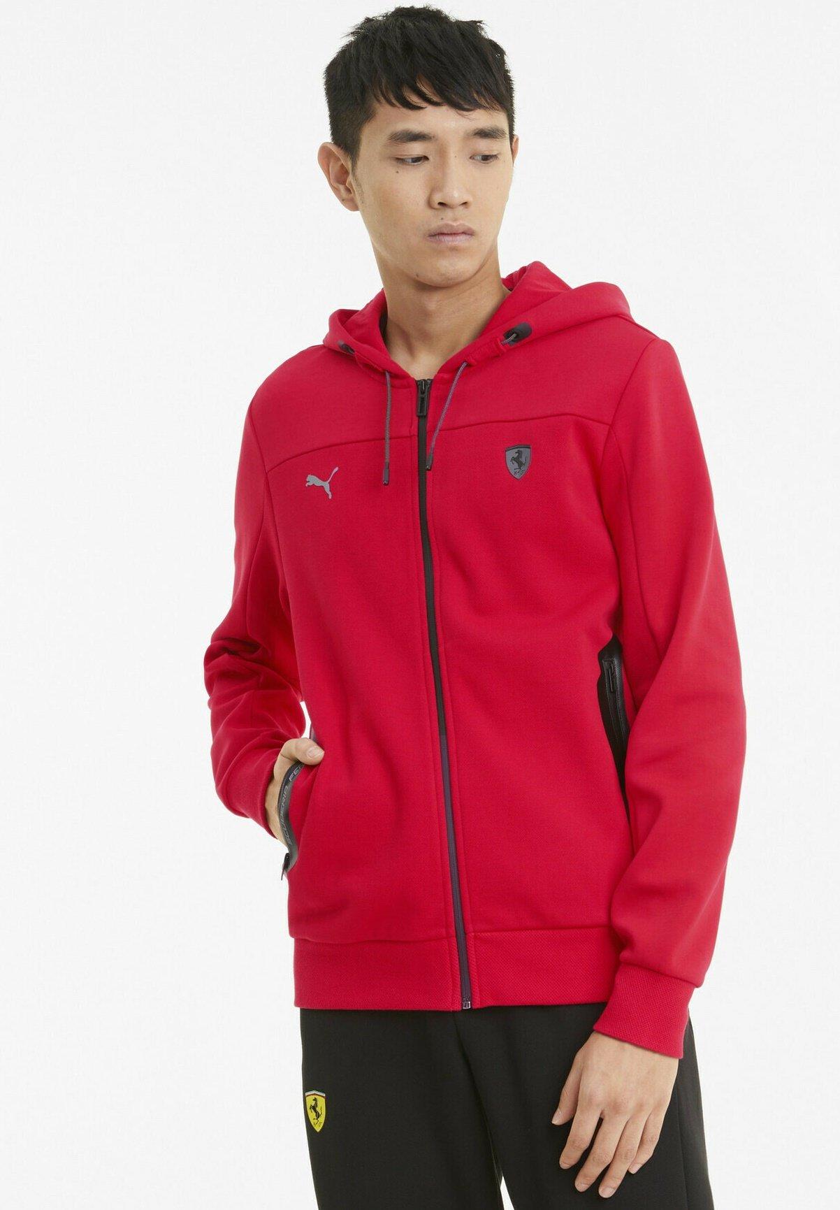 FERRARI STYLE - Sweat à capuche zippé - rosso corsa