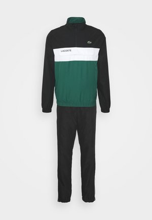 TRACKSUIT - Chándal - black/bottle green