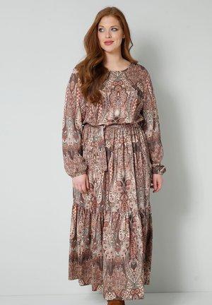 WEB - Maxi dress - braun/smaragd