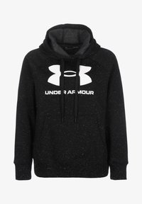 Under Armour - RIVAL  - Hoodie - black / white - 0
