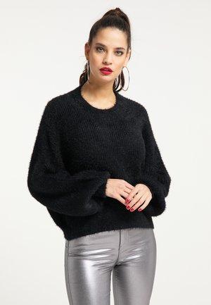 Jersey de punto - schwarz
