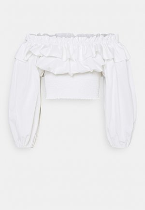 EXCLUSIVE BELLE OFFSHOULDER - Blouse - white