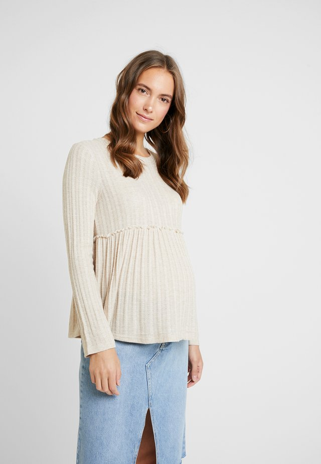 LOUNGE LETTUCE EDGE - Jumper - cream
