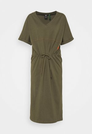 ADJUSTABLE WAIST DRESS - Jersey dress - khaki