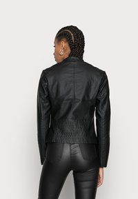 Vila - Faux leather jacket - black - 2