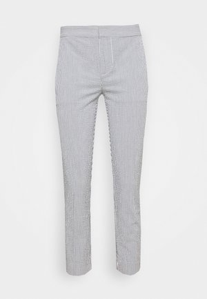 SEERSUCKER PANT - Trousers - navy/white